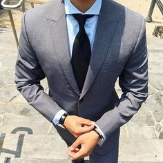 Grey suit collection! 👔🌐 Follo