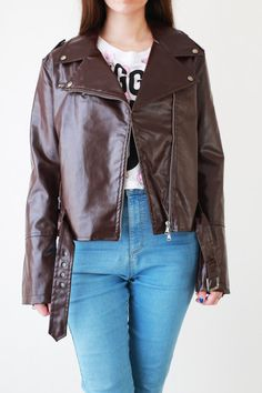 Check out this item in my Etsy shop https://www.etsy.com/listing/511739937/vintage-woman-vegan-leather-punk-grunge