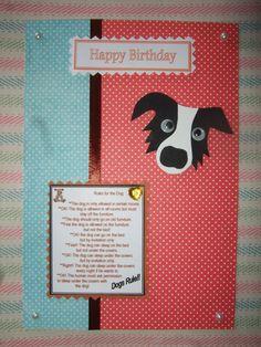 Googly eyes Collie Happy Birthday