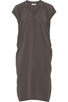 DAY Birger et Mikkelsen Fan draped silk-crepe dress | NET-A-PORTER