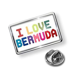Pin I Love Bermuda ,Colorful - Lapel Badge - NEONBLOND by NEONBLOND -- Awesome products selected by Anna Churchill