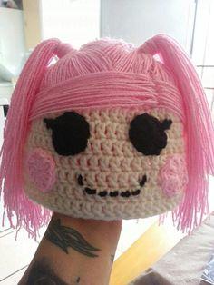 Lalalopsy custom crochet beanie