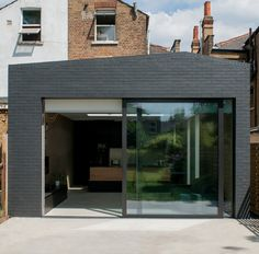 block house - london - mustard Brick Extension, Black Brick, Side Return, Mustard, Extensions, Garage Doors, London, Outdoor Decor