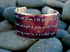 Rustic Cuff Mumford and Sons quote by RusticCuff (etsy)