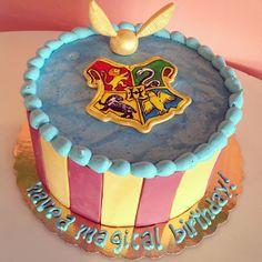 Harry Potter Birthday Cake by 2tarts Bakery  New Braunfels, TX  www.2tarts.com