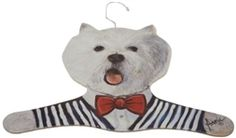 Stupell Home Clothing Hanger Westie Wearing Striped Vest. This whimsically designed animal coat hanger is the perfect gift for any pet lover.  This original hanger features a one of a kind look and feel and comes in over 15+ styles. $17.99 + Free Shipping.
