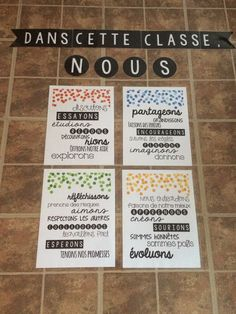 Il reste une semaine avant l'arrivée des nouveaux élèves pour l'année 2015-2016. Je commence à être vraiment excitée parce que j'ai plein... Classroom Language, Classroom Setup, School Classroom, Classroom Displays, School Organisation, Classroom Organization, Classroom Management, First Day Of School Activities, Secondary Teacher