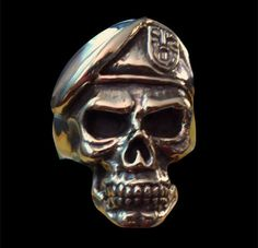 Bronze Special Forces GROM Skull Biker Ring - Custom Size - Free Shipping #Handmade #Statement