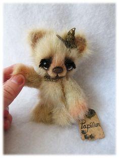 OOAK Cute Jointed Mini Bear Papillon ~ Artist Handmade Teddy By Michele Roy | eBay