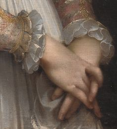 Federico Barocci (C. 1553-1612) - Portrait of a Young Lady, C. 1600, detail