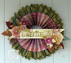 Paper cones  Rosette wreath