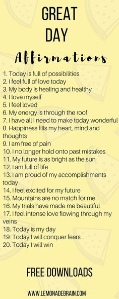 Affirmations are a great way to have a better day! Hey, I'm a poet and I didn't know it. Okay, I guess I do know it because I am a songwriter, to technically I am a poet. But enough about me, this post is about you! Affirmations have been life changing fo Positive Affirmations Quotes, Morning Affirmations, Affirmation Quotes, Affirmations For Happiness, Mantra, Positive Quotes For Life Happiness, Positive Thoughts, The Words, Positive Energie
