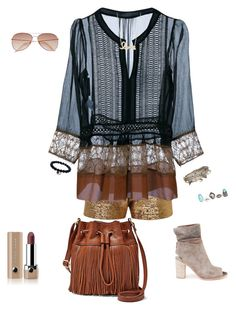 sheer fun by ddwallace on Polyvore featuring polyvore fashion style Alberta Ferretti Lanvin FOSSIL Aéropostale Sydney Evan H&M Marc Jacobs clothing