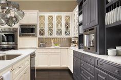 ... omega-kitchen-cabinets-gray-white-glass-doors ...