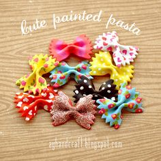 What a great fun craft. Painted pasta @ Made with Love. #craft