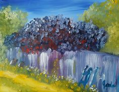 Lilacs on a Fence