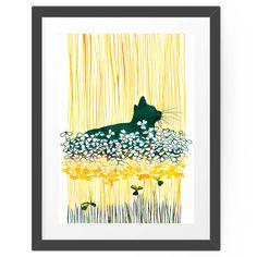 Clover Cat by Priscilla Moore. #hellosunday