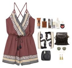 Untitled #123 by jessica-camarero on Polyvore featuring MANGO, MICHAEL Michael Kors, Chloé, Agnes de Verneuil, Melissa Joy Manning, Ray-Ban, Tom Ford, Bobbi Brown Cosmetics, NARS Cosmetics and H&M