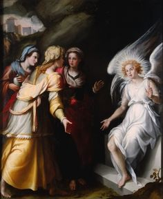Jacopo Chimenti, called Jacopo da Empoli  Three Maries at the Tomb, 1570s    Oil on wood panel  181.7 cm x 150.5 cm (71 9/16 in. x 59 1/4 in.)  2002 Blanton Ball Purchase