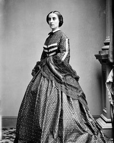8 x 10 Repro Photo Print Mrs Henry Halleck, Wife of Civil War General, Dress