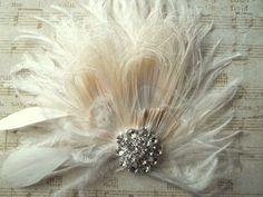 Bibi de mariée mariage plumes pince à cheveux par kathyjohnson3