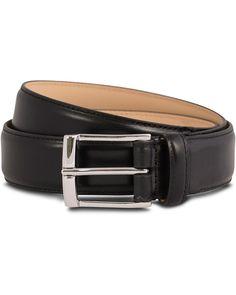 Crockett & Jones Belt 3,2 cm Black Calf. Size: 36