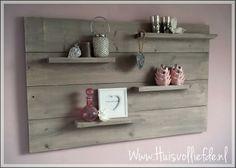 Steigerhouten #wandbord #wand #decoratie #steigerhout #pink #roze # ...