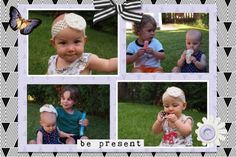 Be present digital scrapbook layout using 4x6 card templates