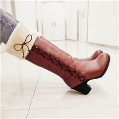Korean Sweet Bowknot Knee-high Boots