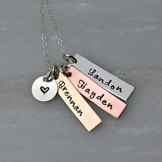 #OpenSky                  #Women                    #Hand #Stamped #Jewelry #Mixed #Metal #Personalized #Necklace #Name #Necklace #Hand #Stamped #Jewelry   Hand Stamped Jewelry - Mixed Metal - Personalized Necklace - Name Necklace - Hand Stamped Jewelry                                 http://www.snaproduct.com/product.aspx?PID=5820984