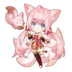 SD 심플한 디자인 Kawaii Neko Girl, Chibi Kawaii, Anime Girl Neko, Anime Nerd, Cute Chibi, Anime Chibi, Anime Art Girl, Chibi Characters, Cute Characters