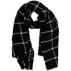 Warehouse Window Pane Check Scarf (2.000 RUB) ❤ liked on Polyvore featuring accessories, scarves, print scarves, patterned scarves, checkered scarves, acrylic scarves and faux-fur scarves