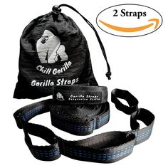 Chill Gorilla PRO XL Hammock Tree Hanging Straps 302 Loops 1200 Pounds Supported No Stretch Ultralight Super Strong Tree Friendly Fast Easy Setup Hammock Camping ENO Accessory * Click image for more details. (This is an affiliate link) Backpacking Hammock, Camping And Hiking, Hiking Gear, Camping Gear, Camping Supplies, Amazon Associates, Camping Accessories, Hiking Equipment, Outdoor Gear