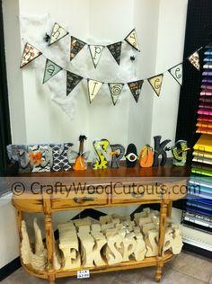 Halloween Wood Craft Cutouts from Crafty Wood Cutouts