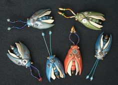 Paper Clay, Bugs, Turquoise Necklace, Steampunk, Polymer Clay, Drop Earrings, Annie, Crafts, Craft Ideas