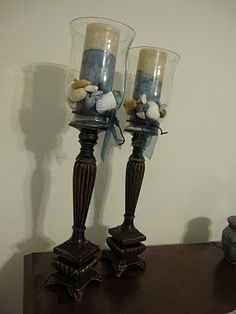 Glass Candle Towers DIY