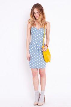 ArynK Dot Bustier Dress