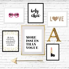 Create your own gallery wall with our free printables