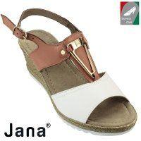 Jana női bőr szandál 8-28303-28 396 konyak kombi
