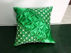Diwali Craft, Fabric Manipulation, Smocking, Decorative Pillows, Cushions, Throw Pillows, Quilts, Bed, Crafts