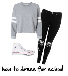 """""""Converse correctly worn"""" by crissyra-runy on Polyvore featuring Boohoo and Converse"""