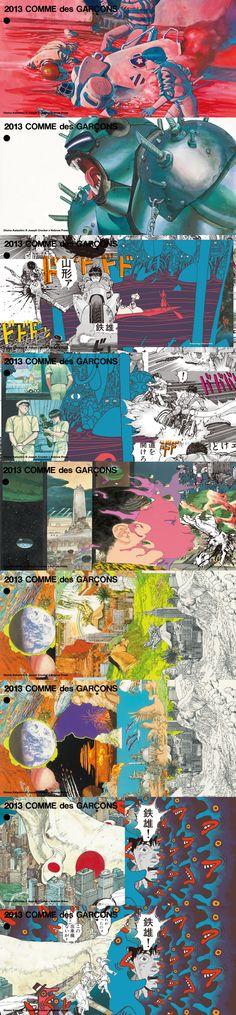 Comme des Garcons × Akira - Illustration: Otomo Katsuhiro, Joe Crocker (Nobrow Press); Design: Rei Kawakubo