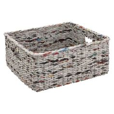 recycled magazine basket. you could even paint after your done