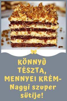 Hungarian Desserts, Hungarian Recipes, Sweet Desserts, Delicious Desserts, Cookie Recipes, Dessert Recipes, Cake Decorating Videos, Homemade Cookies, Winter Food