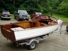 Glue And Stitch Boat Plans Centre Console Boat, Lyman Boats, Classic Wooden Boats, Classic Boat, Sailboat Plans, Power Boats For Sale, Boat Restoration, Runabout Boat, Wooden Boat Building