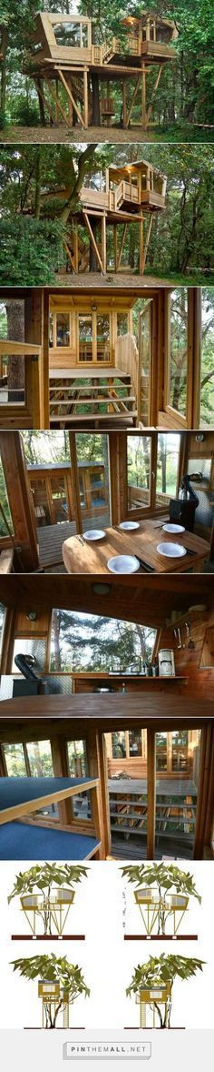 More ideas below: Amazing Tiny treehouse kids Architecture Modern Luxury treehouse interior cozy Backyard Small treehouse masters Plans Photography Ho. Cozy Backyard, Backyard Kitchen, Backyard For Kids, Backyard Ideas, Building A Treehouse, Build A Playhouse, Treehouse Kids, Backyard Treehouse, Kids Building