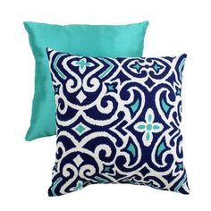 Pillow Perfect Decorative Damask Square Toss Pillow, Blue/White by Pillow Perfect, http://www.amazon.com/dp/B0062YKBKW/ref=cm_sw_r_pi_dp_vg-hqb0KA6DXJ