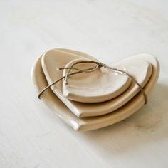 Home Decorators - #Ceramic #Hearts by #JacquelineMorabito (set of 3)