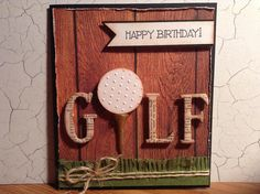 Male birthday card with golf theme