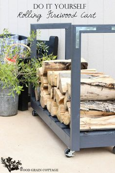 How To: Make a Rolling Firewood Cart » Curbly | DIY Design Community